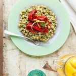 Moghrabieh Salad with Preserved Lemon and Coriander Pesto