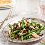 Green beans, Feta, Caramelised Onions and Almonds